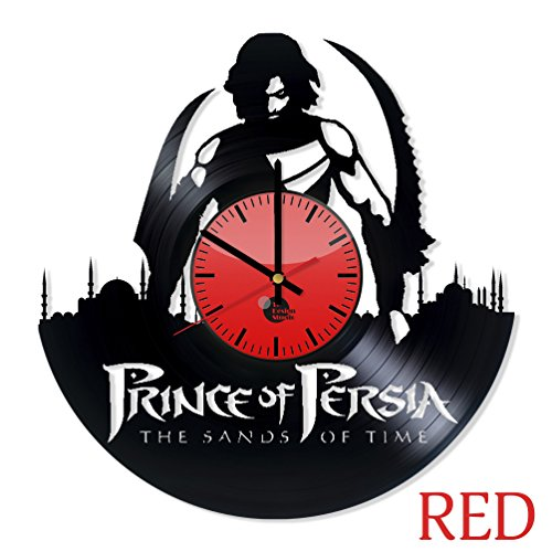 [Prince of Persia Sands of Time Vinyl Wall Clock - Get unique home or office wall decor - Gift ideas for his and her - Adventure Movie Unique Art Design - Leave us a feedback and win your custom] (Prince Of Persia Forgotten Sands Costumes)