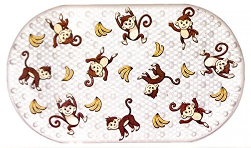 Monkey and Banana Printed Bubble Bathtub Mat - 16 inch by 28 inch - 1