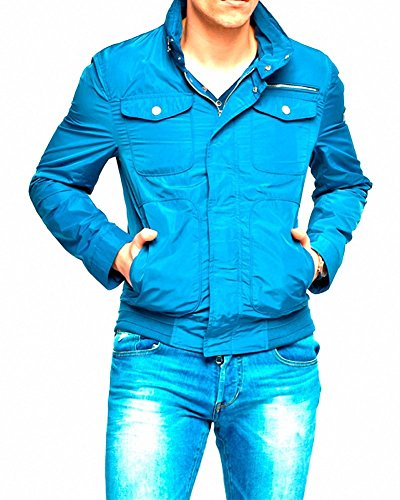 Guess by Marciano - Chaqueta Guess by Marciano Azul Satin - L, blu