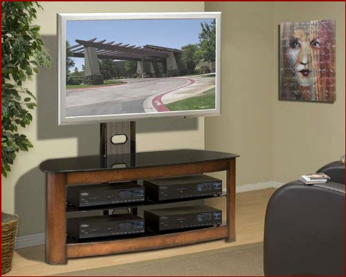 Image of Encore Entertainment - Contemporary Mixed Media TV Stand AP-TVS-49 (B002UXPBKY)