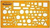Schablone Zeichenschablone Technisches Zeichnen - Pfeile Sechseck Kreis Ellipse Ellipsen