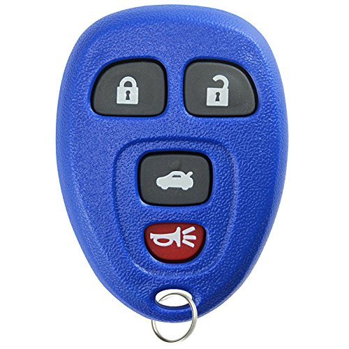 KeylessOption Keyless Entry Remote Control Car Key Fob Replacement for 15252034 -Blue (2008 Pontiac G6 Remote Key Fob compare prices)