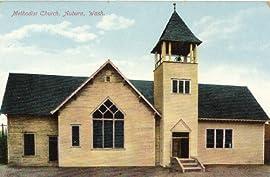 1910 Vintage Postcard Methodist Church Auburn Washington