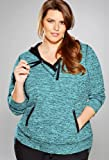 Avenue Plus Size Marled Hooded Tunic