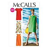 McCall's Patterns M6739 B5 8 - 10 - 12 - 14 - 16 Misses' Dresses, Pack of 1, White