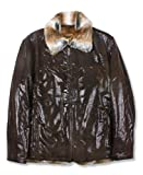 Reed Men's Sheep Skin Leather Jacket Shearling Style by NYC Leather Factory Outlet