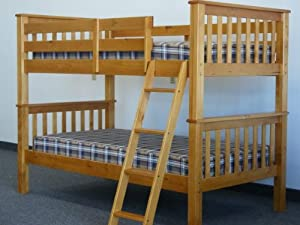 Bunk Bed Twin over Twin Mission style in Honey by Bedz King