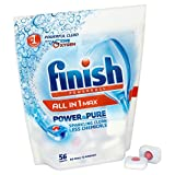 Finish All in One Power and Pure Dishwasher Tablets (Pack of 56)