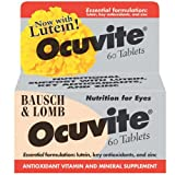 Bausch & Lomb Ocuvite Lutein Eye Vitamins For Macular Degeneration 60 Tablets