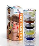 Face & Body Paint Kit | Ultimate Birthday Party Pack | Goes On Smooth & Comes Off Easy | Certified Organic | Vibrant Colors that Last | Includes Sticks/Brushes | Made in USA | Money Back GUARANTEE