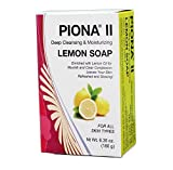 Piona ® II Deep Cleansing & Moisturizing Lemon Soap 6.35 Oz - Clears Complexion and Leaves Skin Glowing - By Cherrybargains