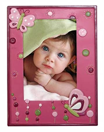 Lambs and Ivy Raspberry Swirl Picture Frame