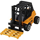 Black+Yellow Kids Toy Construction Vehicle Bulldozer Digger Forklift Loader Truck Model Gift