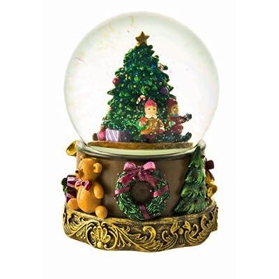 MusicBox Kingdom 53088 Snow Globe Christmas Tree Music Box Plays The Melody O Christmas Tree