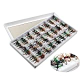 Sougayilang Colorful Assortment Dry Fly Fishing Flies Pack of 96pcs