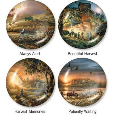 Always Alert Decorative Collectors Plate 8.25 Inch - Harvest Series By Terry Redlin
