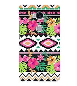 Flowers 3D Hard Polycarbonate Designer Back Case Cover for Huawei Honor 5X :: Huawei Honor X5 :: Huawei Honor GR5