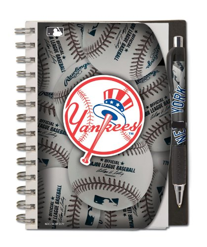 National Design New York Yankees Deluxe Hardcover 5 x 7-Inches Notebook and Pen Set (12284-GCV) (Ny York Yankees compare prices)