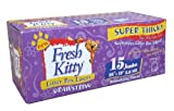 Fresh Kitty Litter Box Liners, 15 Count Jumbo Drawstring