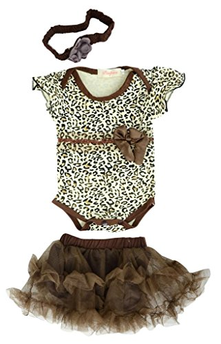 Kids Toddler Newborn Baby Girls Bodysuit One Piece Tutu Skirt Dress Headband Outfit