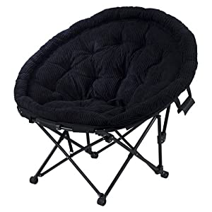 Sphere Chair, Wide Wale Corduroy - Black
