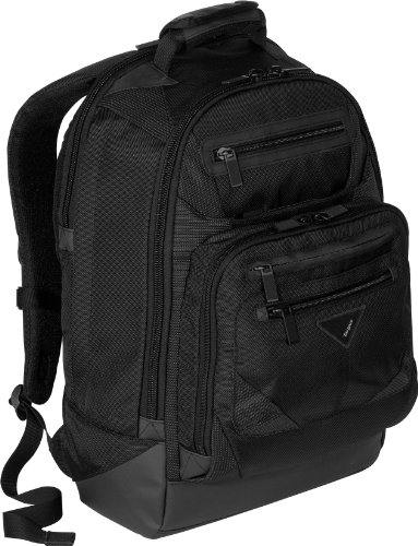 Targus A7 Commuter Backpack Designed to Protect 17 Inch Laptops TSB200US (Black)