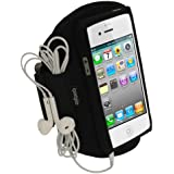 igadgitz Noir Armband Brassard Sport pour Nouveau Apple iPhone 5, 5S, 5C 4G LTE Gym Jogging