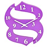 GATTS Purple Brown Red Purple(light) Blue High grade Plastic Wall Clock from GATTS (Purple )