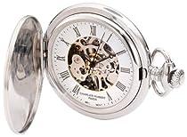 Charles-Hubert, Paris 3929 Premium Collection Stainless Steel Mechanical Pocket Watch