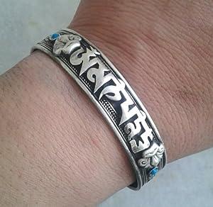 """""""OM MANI PADME HUNG"""" ~ Sanskrit Mantra Bracelet ~ w/ Om Mani Gift Pouch"""