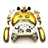 SQdeal® Wireless Controller Replacement Mod Kit Shell Case for Xbox One (Chrome Gold)