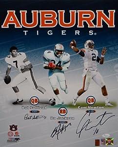 Jackson, Newton & Sullivan Autographed 16x20 Auburn Heisman Photo- JSA Auth