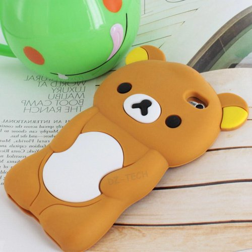 3D Teddy Bear Brown Soft Silicone Case Cover