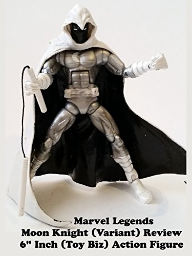 "Marvel Legends MOON KNIGHT (variant) Review 6"" inch (Toy Biz) action figure"
