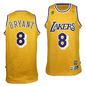 Kobe Bryant Los Angeles Lakers Hardwood Classics #8 Swingman Jersey (Gold) XL by adidas