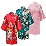 Swhiteme Women's Kimono Robe, Short,...