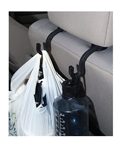 Handy Hooky 2pc Car Seat Headrest Hanger Storage Hooks - Purse Handbag Grocery Bag Holder