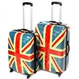 2 Piece Union Jack 18 + 28″ Abs Suitcase Set