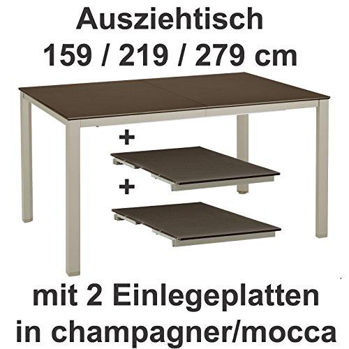 Kettler-Ausziehtisch-159-219-279-cm-in-champagner-mocca-Gartentisch