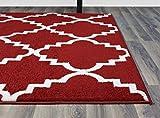 Orange Trellis Rug Contemporary Design 5-Feet 3-Inch by 7-Feet 3 Soft Lattice Carpet