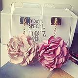 !デコ電パーツ スマートフォンカバー iPhone5用ケース クリア 薔薇 花 ランダム色 iPhone5/6/6plus 【50点】