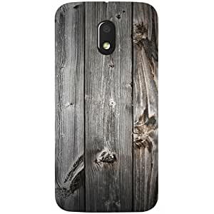 Casotec Wooden Texture Design 3D Printed Hard Back Case Cover for Motorola Moto E3 Power