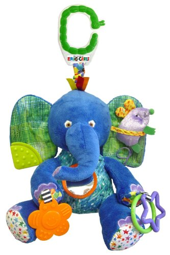 Eric Carle Baby Early Development Rattle Toys Multifunctional Plush Elephant Bed Hang Ring Bell front-525775