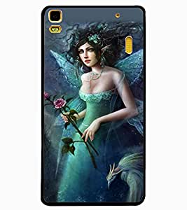 ColourCraft Beautiful Angel Design Back Case Cover for LENOVO A7000