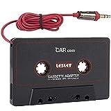 Bon Venu Car Cassette Tape Deck Adapter Compatible with 3.5mm Jack Audio MP3/CD Player (Tamaño: A-1)