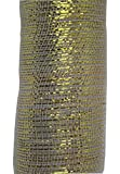 Decorative Mesh Ribbon - 10 Yards X 21 Inches - White and Metallic Gold