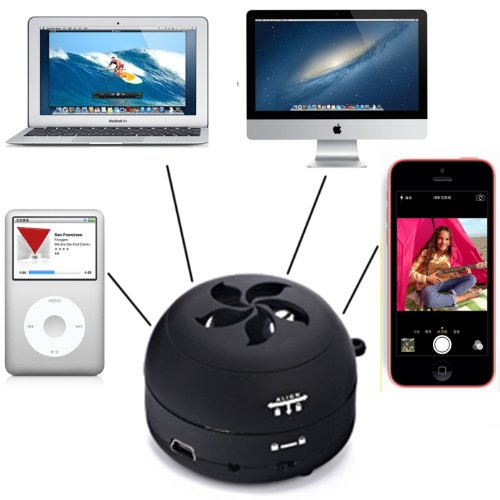 Hde Collapsible Mini Hamburger Pocket Speaker - Rechargeable Travel Speaker For Iphone, Ipod, Ipad, Mp3 Players