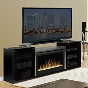 Marana 76 Quot Tv Stand With Electric Fireplace Finish Black