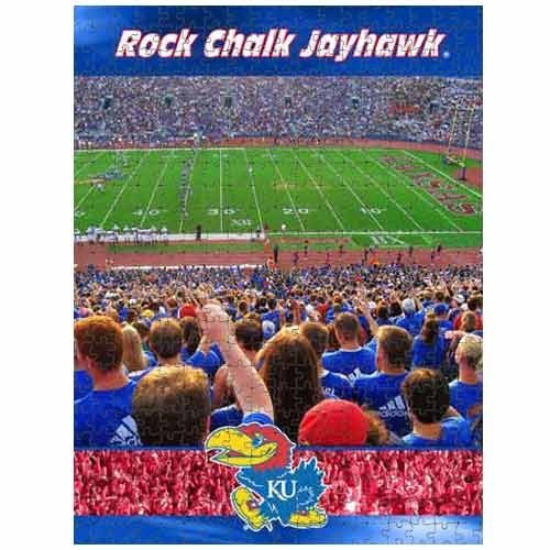 Racing Reflections Kansas Jayhawks 18X22 550 Piece Jigsaw Puzzle - 1