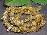 g3-1570F  1連40cm タイチンルチルクォーツ 金針水晶 さざれ チップ 穴あり パーツ ビーズ ブラジル産 天然石 パワーストーン